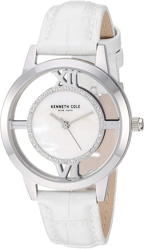 腕時計 ケネスコール・ニューヨーク Kenneth Cole New York レディース 【送料無料】Kenneth Cole New York Women's Transparency Stainless Steel Japanese-Quartz Watch with Leather Stra腕時計 ケネスコール・ニューヨーク Kenneth Cole New York レディース