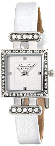 腕時計 ケネスコール・ニューヨーク Kenneth Cole New York レディース 【送料無料】Kenneth Cole New York Women's Quartz Stainless Steel Case Leather Strap White,(Model:KC2825)腕時計 ケネスコール・ニューヨーク Kenneth Cole New York レディース
