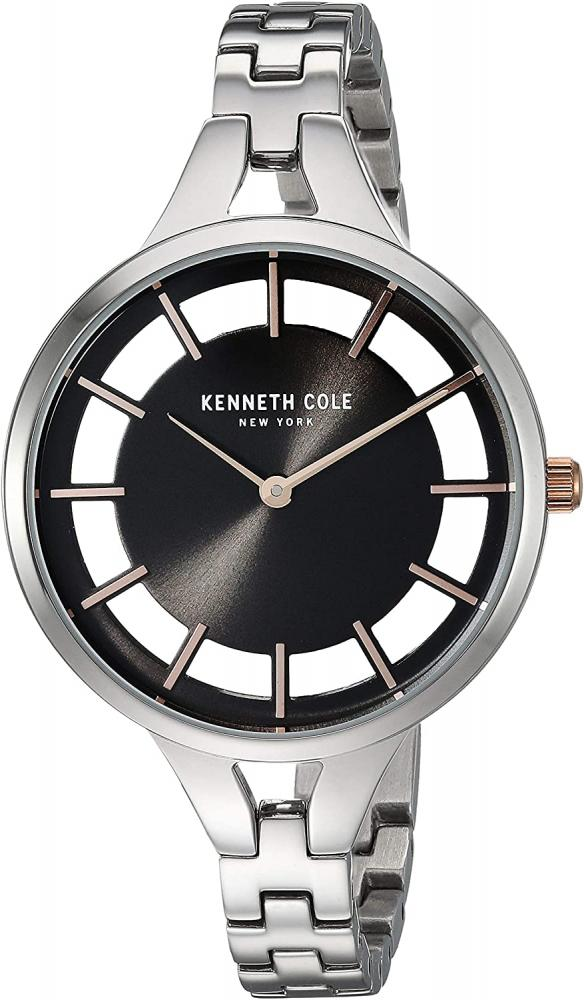 腕時計 ケネスコール・ニューヨーク Kenneth Cole New York レディース 【送料無料】Kenneth Cole New York Women's Transparency Analog-Quartz Watch with Stainless-Steel Strap, Silver,腕時計 ケネスコール・ニューヨーク Kenneth Cole New York レディース