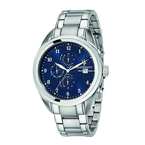 マセラティ イタリア 腕時計 メンズ 【送料無料】Maserati traguardo Mens Analog Quartz Watch with Stainless Steel Bracelet R8853112505マセラティ イタリア 腕時計 メンズ