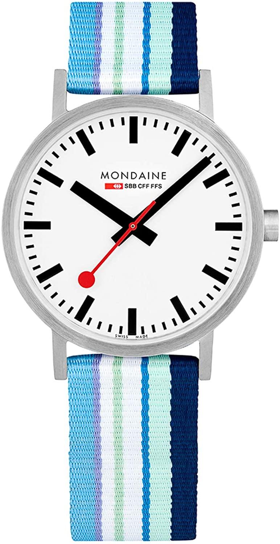 モンディーン 北欧 スイス 腕時計 メンズ 【送料無料】Mondaine Classic 40mm Blue Purple Stripeモンディーン 北欧 スイス 腕時計 メンズ