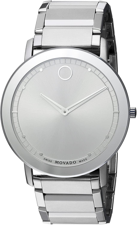 モバード 腕時計 メンズ 【送料無料】Movado Men's 0606881 Analog Display Swiss Quartz Silver Watchモバード 腕時計 メンズ