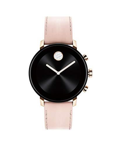 モバード 腕時計 メンズ 【送料無料】Movado Connect 2.0 Unisex Powered with Wear OS by Google Stainless Steel and Pink Leather Smartwatch, Color: Pink (Model: 3660023)モバード 腕時計 メンズ