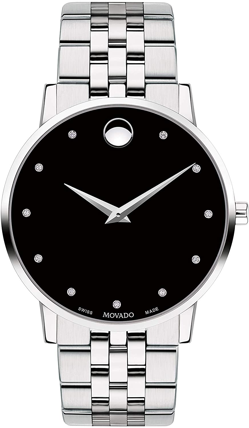 腕時計 モバード メンズ 【送料無料】Movado Museum Classic, Stainless Steel Case, Black Dial, Stainless Steel Bracelet, Men, 0607201腕時計 モバード メンズ
