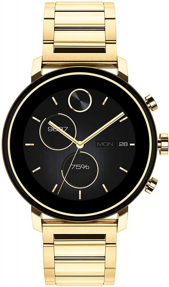 腕時計 モバード メンズ 【送料無料】Movado Connect 2.0 Unisex Powered with Wear OS by Google Stainless Steel and Ionic Light Gold 2 Plated Steel Smartwatch, Color: Yellow (Model: 3660036)腕時計 モバード メンズ