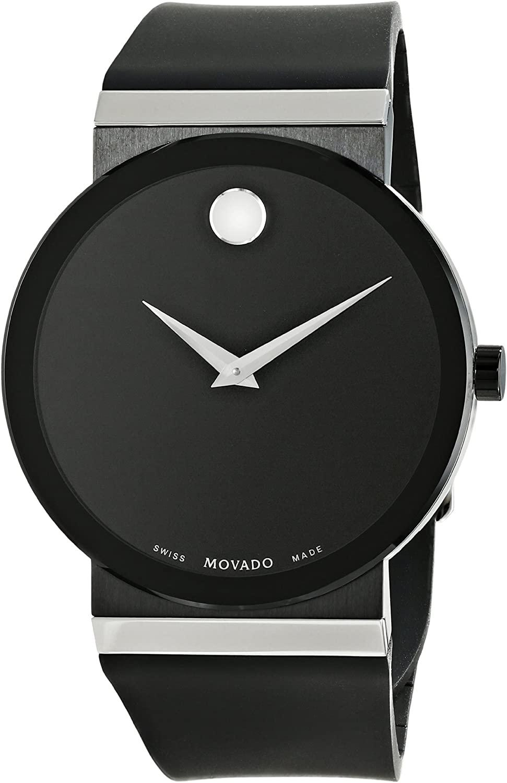 腕時計 モバード メンズ 【送料無料】Movado Men's 0606780 Sapphire Synergy Stainless Steel Watch with Black Rubber Band腕時計 モバード メンズ