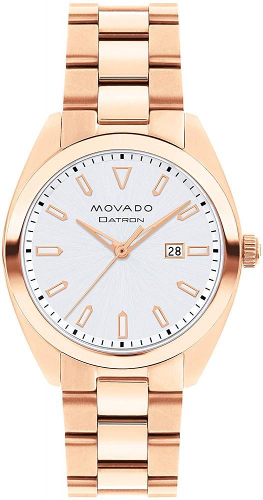 モバード 腕時計 レディース 【送料無料】Movado Women's Heritage Rose Gold Watch with a Printed Index Dial, Gold/Silver (Model 3650039)モバード 腕時計 レディース