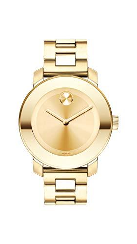 腕時計 モバード レディース 【送料無料】Movado Women's BOLD Iconic Metal Yellow Gold Watch with a Flat Dot Sunray Dial, Gold (Model 3600085)腕時計 モバード レディース