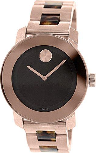 倉庫 無料ラッピングでプレゼントや贈り物にも 逆輸入並行輸入送料込 腕時計 モバード レディース 送料無料 Movado Bold Bracelet 3600189腕時計 Dial 与え Steel Unisex Watch Stainless Brown