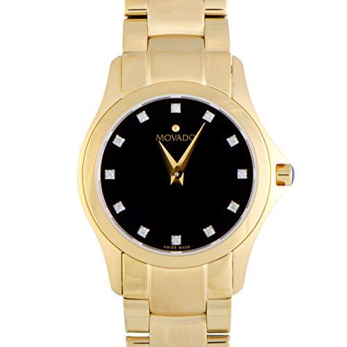 無料ラッピングでプレゼントや贈り物にも 逆輸入並行輸入送料込 腕時計 モバード セールSALE%OFF 引き出物 レディース 送料無料 Movado Masion Gold-Tone Dial Watch Yellow Black 0607028腕時計 Ladies