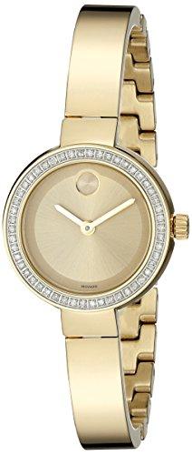 腕時計 モバード レディース 送料無料 Movado Women's 3600322 Analog Display Swiss Quartz Gold Watch腕時計 モバード レディース