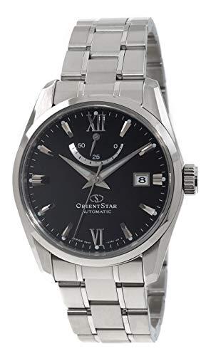 オリエント 腕時計 メンズ 【送料無料】Orient Star Power Reserve Sapphire Glass Steel Bracelet Black Dial Dress Watch RE-AU0004Bオリエント 腕時計 メンズ