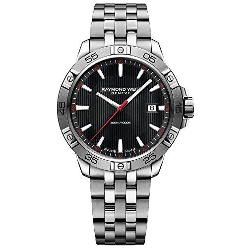 腕時計 レイモンドウィル メンズ スイスの高級腕時計 【送料無料】Raymond Weil Men's Tango 41mm Steel Bracelet & Case Quartz Black Dial Analog Watch 8160-ST2-20001腕時計 レイモンドウィル メンズ スイスの高級腕時計