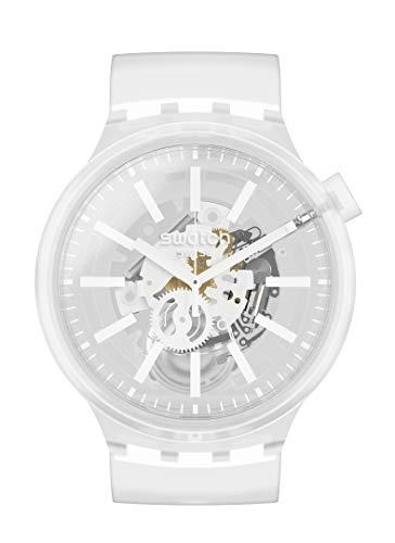 スウォッチ 腕時計 レディース 夏の腕時計特集 【送料無料】Swatch Big Bold Swiss Quartz Silicone Strap, Transparent, 24 Casual Watch (Model: SO27E106)スウォッチ 腕時計 レディース 夏の腕時計特集