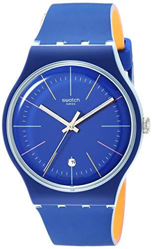 スウォッチ 腕時計 レディース 夏の腕時計特集 【送料無料】Swatch Essentials Quartz Silicone Strap, Blue, 20 Casual Watch (Model: SUOS403)スウォッチ 腕時計 レディース 夏の腕時計特集