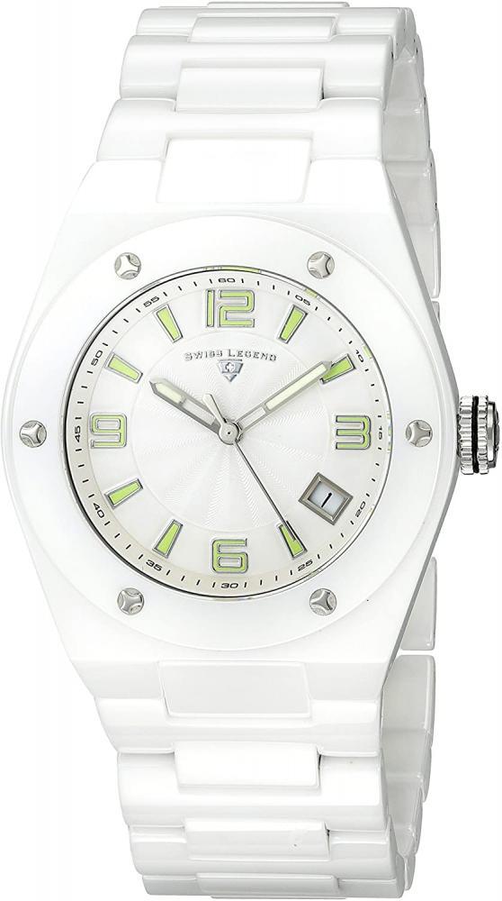 スイスレジェンド 腕時計 レディース 【送料無料】Swiss Legend Women's 10054-WWTSA Throttle White Ceramic Bracelet Watchスイスレジェンド 腕時計 レディース