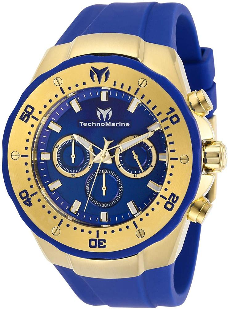テクノマリーン 腕時計 メンズ 【送料無料】Technomarine Men's Manta Sea Stainless Steel Quartz Watch with Silicone Strap, Blue, 30 (Model: TM-218031)テクノマリーン 腕時計 メンズ