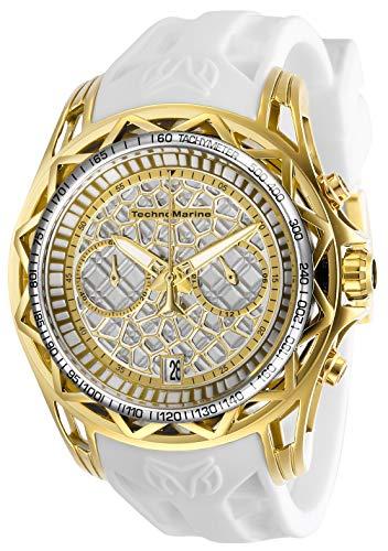 テクノマリーン 腕時計 メンズ 【送料無料】Technomarine Men's Technocell Stainless Steel Quartz Watch with Silicone Strap, Black, 22 (Model: TM-318030)テクノマリーン 腕時計 メンズ