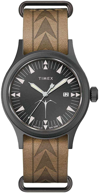 腕時計 タイメックス メンズ 【送料無料】Timex x Keone Nunes Maka Ihe Brown Leather Watch TW2T81800腕時計 タイメックス メンズ