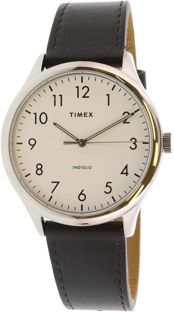 腕時計 タイメックス メンズ 【送料無料】Timex Men's Modern Easy Reader TW2T71800 Silver Leather Quartz Fashion Watch腕時計 タイメックス メンズ