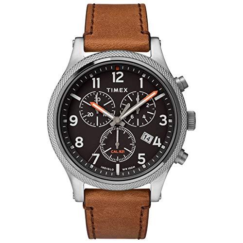 タイメックス 腕時計 メンズ 【送料無料】Timex Men's Allied LT Chrono 42mm Analog Quartz Leather Strap, Brown, 20 Casual Watch (Model: TW2T32900VQ)タイメックス 腕時計 メンズ