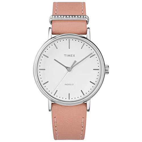 タイメックス 腕時計 レディース 【送料無料】Timex Fairfield White Dial Leather Strap Ladies Watch TW2R70400タイメックス 腕時計 レディース