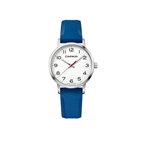 ウェンガー スイス 腕時計 レディース 【送料無料】WENGER Unisex Analogue Quartz Watch with Silicone Strap Sport Avenue 01.1621.107ウェンガー スイス 腕時計 レディース