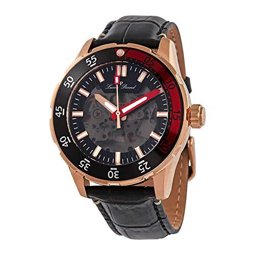 ルシアンピカール 腕時計 メンズ 【送料無料】Lucien Piccard Automatic Black Dial Men's Watch 1300A4ルシアンピカール 腕時計 メンズ