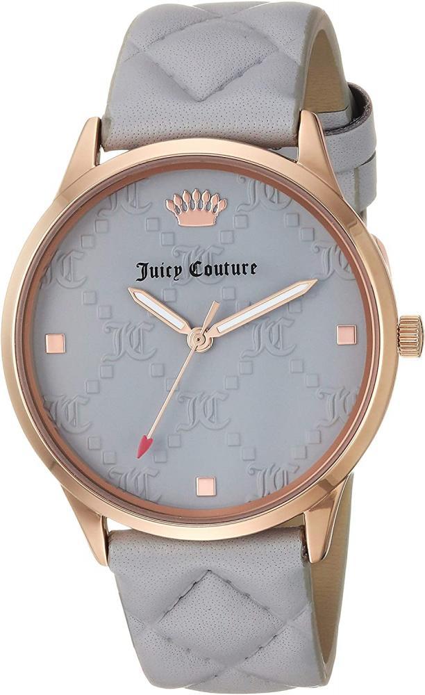 ジューシークチュール レディース 【送料無料】Juicy Couture Black Label Women's JC/1080RGGY Rose Gold-Tone and Light Grey Quilted Leather Strap Watchジューシークチュール レディース