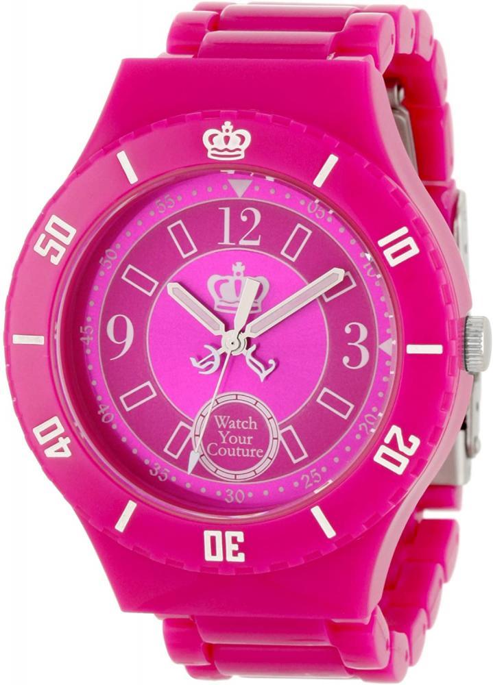 腕時計 ジューシークチュール レディース 【送料無料】Juicy Couture Women's 1900812 Taylor Hot Pink Plastic Bracelet Watch腕時計 ジューシークチュール レディース