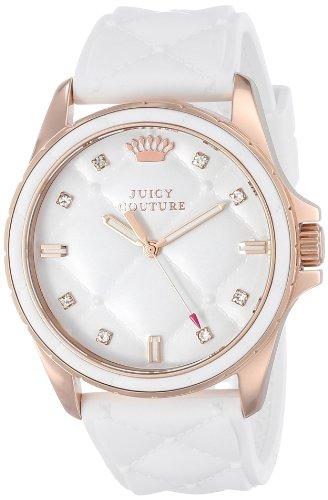 ジューシークチュール レディース 【送料無料】Juicy Couture Women's 1901102 Stella White Quilted Silicone Dial Watchジューシークチュール レディース