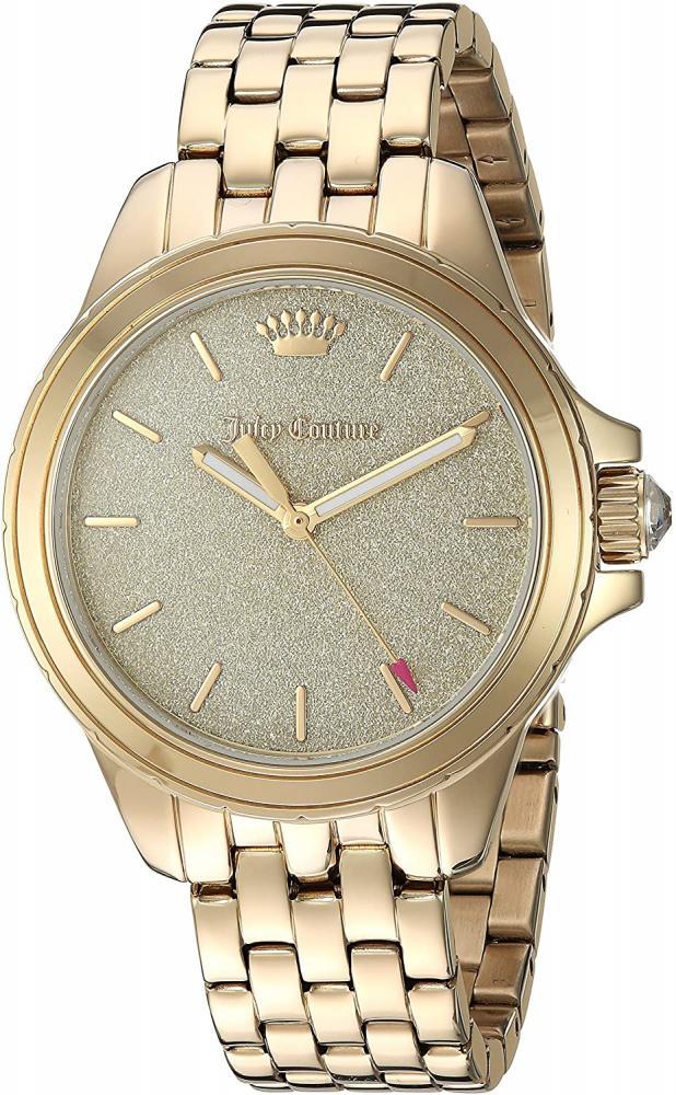ジューシークチュール レディース 【送料無料】Juicy Couture Women's Malibu Quartz Watch with Gold-Tone-Stainless-Steel Strap, 16 (Model: 1901593)ジューシークチュール レディース