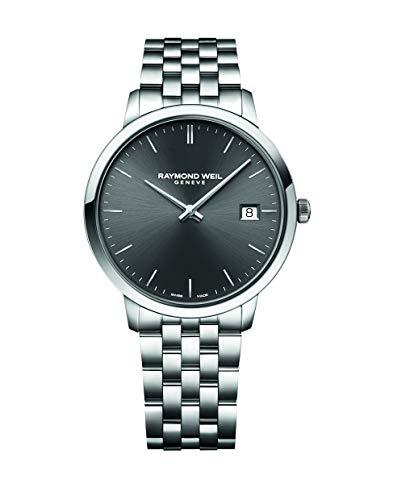 腕時計 レイモンドウィル メンズ スイスの高級腕時計 【送料無料】RAYMOND WEIL Men's Toccata Swiss Quartz Stainless Steel Strap, Silver, 19 Casual Watch (Model: 5585-ST-60001)腕時計 レイモンドウィル メンズ スイスの高級腕時計