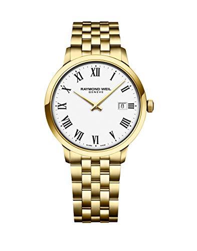 レイモンドウィル 腕時計 メンズ スイスの高級腕時計 【送料無料】RAYMOND WEIL Men's Toccata Two Tone Swiss Quartz Stainless Steel with Yellow Gold Pvd Plating Strap, 19 Casual Watch (Model: 5485-P-レイモンドウィル 腕時計 メンズ スイスの高級腕時計