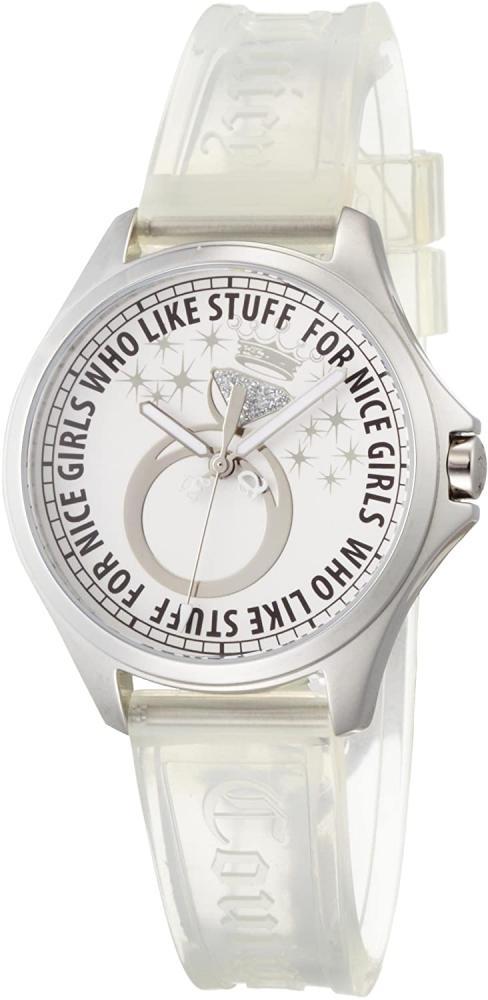 腕時計 ジューシークチュール レディース 【送料無料】Juicy Couture Women's 1900715 Libby Clear Jelly Strap Watch腕時計 ジューシークチュール レディース