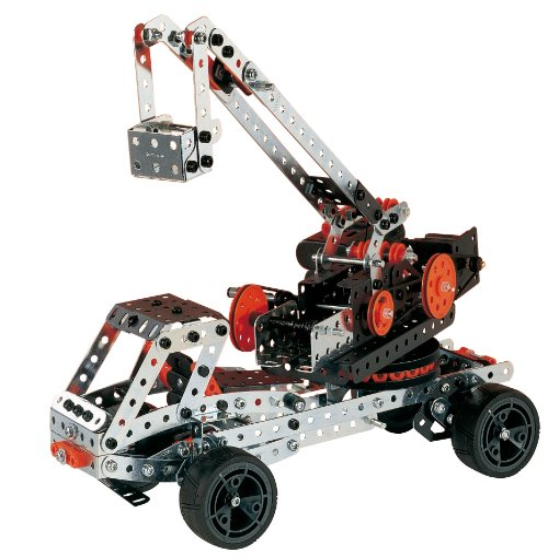 Meccano Erector Super Construction 25-in-1 Building Set 638 Parts for Ages...