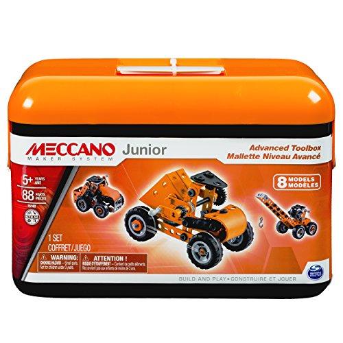 アンクルミルトン 知育玩具 科学 20070919 Meccano-Erector Junior Advanced Toolbox, 8 Model Building Kitアンクルミルトン 知育玩具 科学 20070919