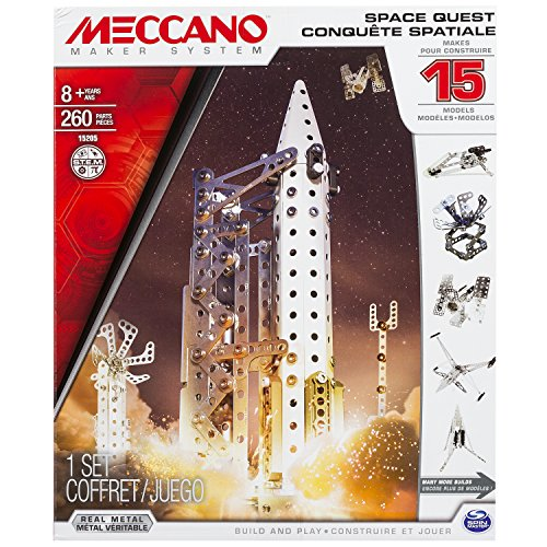 アンクルミルトン 知育玩具 科学 20070139-6026302 Meccano Space Quest Set, 15 Model Building Set, 260 Pieces, For Ages 8+, STEM Construction Education Toyアンクルミルトン 知育玩具 科学 20070139-6026302