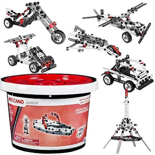 アンクルミルトン 知育玩具 科学 20070926 【送料無料】Meccano-Erector Junior 150 Piece Bucketアンクルミルトン 知育玩具 科学 20070926