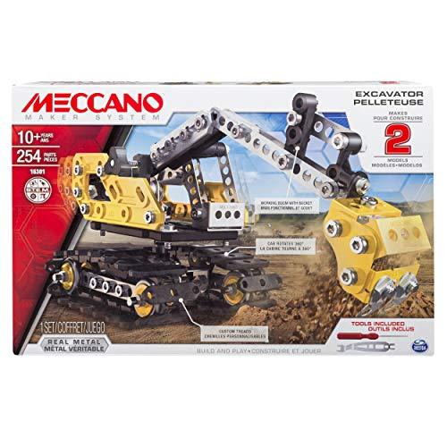 アンクルミルトン 知育玩具 科学 6027036 【送料無料】Meccano, 2-in-1 Model Set, Excavator and Bulldozerアンクルミルトン 知育玩具 科学 6027036