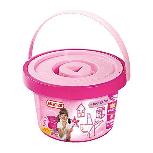 アンクルミルトン 知育玩具 科学 6023403 Meccano Girls Construction Bucket (100 Parts)アンクルミルトン 知育玩具 科学 6023403