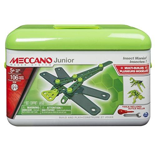 アンクルミルトン 知育玩具 科学 6027021 MECCANO-Erector Junior Toolbox, Insect Mania, 4 Model Building Kitアンクルミルトン 知育玩具 科学 6027021