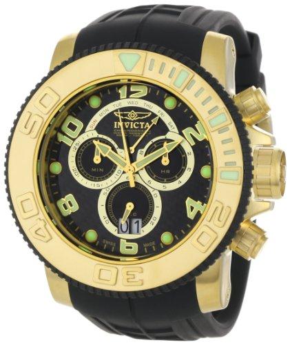 インヴィクタ インビクタ プロダイバー 腕時計 メンズ 0415 【送料無料】Invicta Men's 0415 Pro Diver Collection Sea Hunter Chronograph Black Polyurethane Watchインヴィクタ インビクタ プロダイバー 腕時計 メンズ 0415