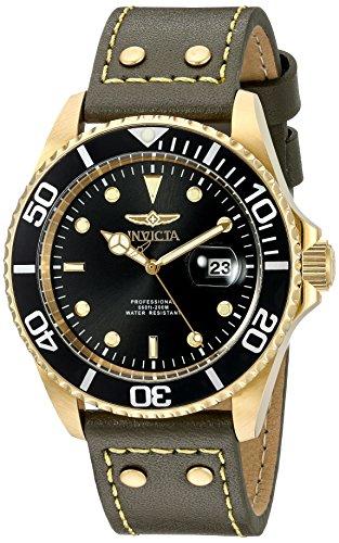 インヴィクタ インビクタ プロダイバー 腕時計 メンズ 22075 【送料無料】Invicta Men's 'Pro Diver' Quartz Stainless Steel and Leather Watch, Color:Green (Model: 22075)インヴィクタ インビクタ プロダイバー 腕時計 メンズ 22075