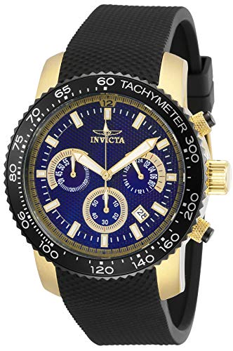 腕時計 インヴィクタ インビクタ メンズ 【送料無料】Invicta Specialty Men 45mm Stainless Steel Gold Blue dial Quartz, 30774腕時計 インヴィクタ インビクタ メンズ