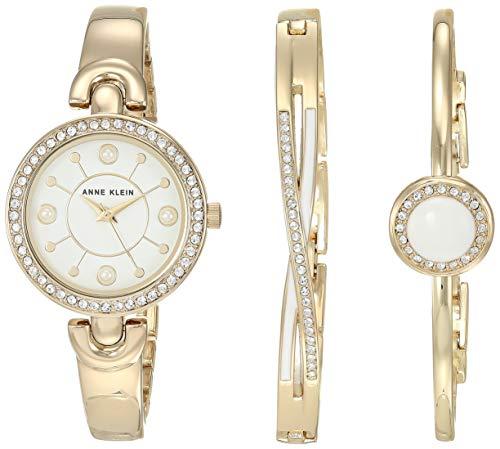 アンクライン 腕時計 レディース 【送料無料】Anne Klein Women's Swarovski Crystal Accented Watch and Bangle Set, AK/3574アンクライン 腕時計 レディース