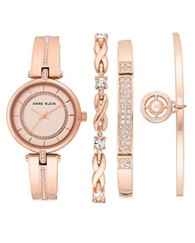 アンクライン 腕時計 レディース 【送料無料】Anne Klein Rose Dial Ladies Watch and Bracelet Set AK/3426RGSTアンクライン 腕時計 レディース