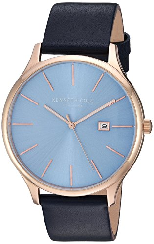 腕時計 ケネスコール・ニューヨーク Kenneth Cole New York メンズ 【送料無料】Kenneth Cole New York Men's 'Classic' Quartz Stainless Steel and Leather Dress Watch, Color:Blue (Model: K腕時計 ケネスコール・ニューヨーク Kenneth Cole New York メンズ