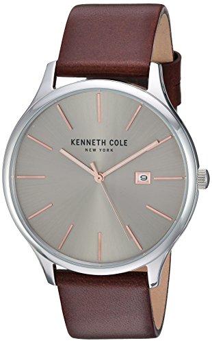 腕時計 ケネスコール・ニューヨーク Kenneth Cole New York メンズ 【送料無料】Kenneth Cole New York Men's 'Classic' Quartz Stainless Steel and Leather Dress Watch, Color:Brown (Model: 腕時計 ケネスコール・ニューヨーク Kenneth Cole New York メンズ