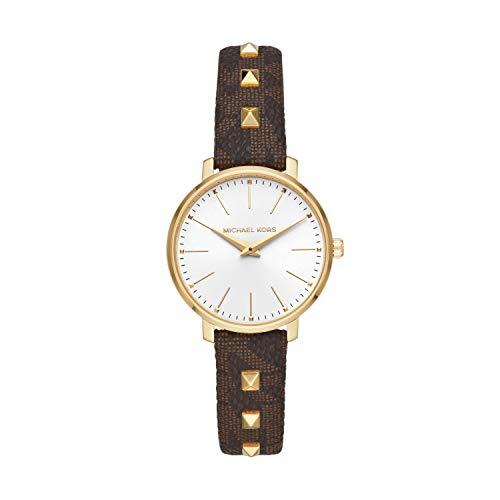 腕時計 マイケルコース レディース マイケル・コース アメリカ直輸入 【送料無料】Michael Kors Women's Pyper Stainless Steel Quartz Watch with Plastic Strap, Brown, 14 (Model: MK2871)腕時計 マイケルコース レディース マイケル・コース アメリカ直輸入